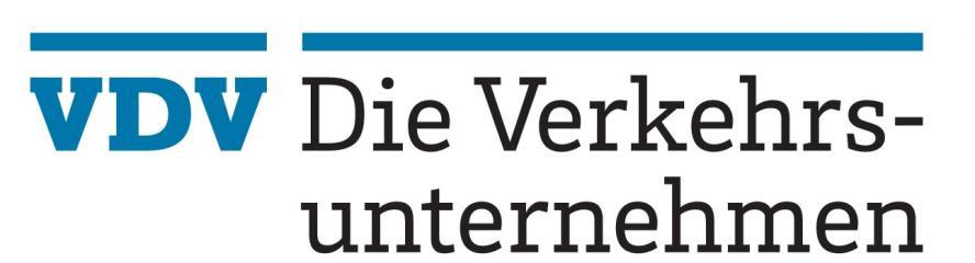 Logo: Verband Deutscher Verkehrsunternehmen e.V. (VDV)