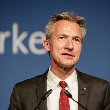 Frank Baranowski, Vorsitzender der Bundes-SGK, Vorsitzender der NRW-SGK und Oberbürgermeister der Stadt Gelsenkirchen